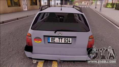 Volkswagen Golf Mk3 Variant for GTA San Andreas back left view