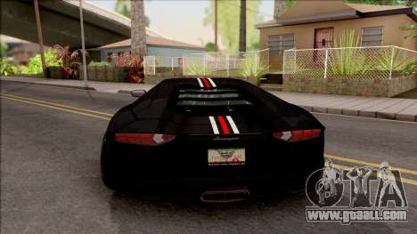 Lamborghini Aventador Shark New Edition Black for GTA San Andreas
