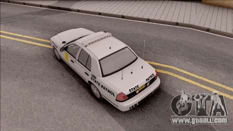 Ford Crown Victoria 2007 Iowa State Patrol for GTA San Andreas back view