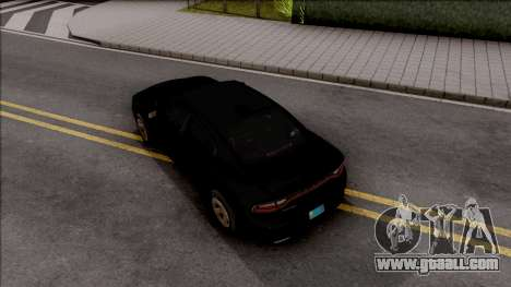 Dodge Charger Unmarked 2015 for GTA San Andreas back view