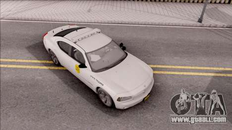 Dodge Charger Silver 2007 Iowa State Patrol for GTA San Andreas right view