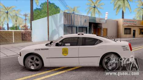 Dodge Charger Silver 2007 Iowa State Patrol for GTA San Andreas left view