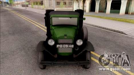 GAZ-42 1940 for GTA San Andreas inner view