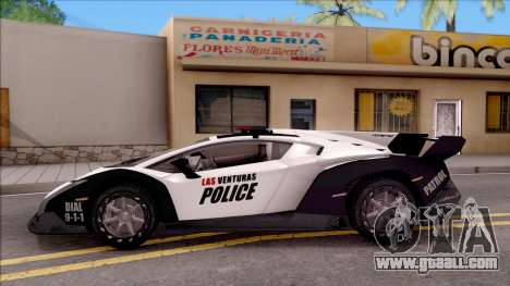 Lamborghini Veneno Police Las Venturas for GTA San Andreas left view