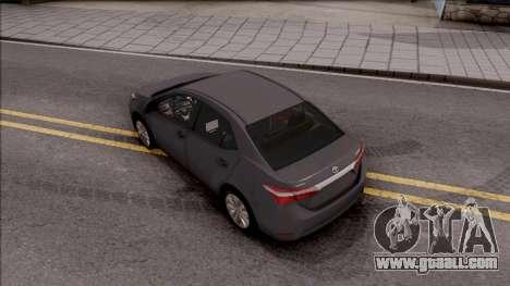 Toyota Corolla for GTA San Andreas back view