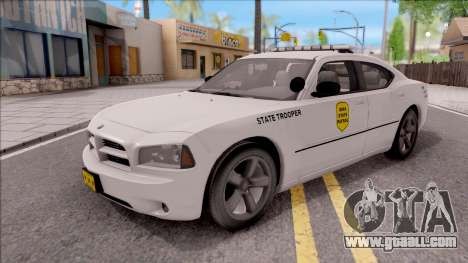 Dodge Charger Silver 2007 Iowa State Patrol for GTA San Andreas