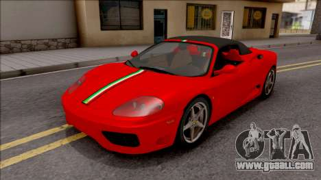 Ferrari 360 Spider US-Spec 2000 IVF for GTA San Andreas inner view