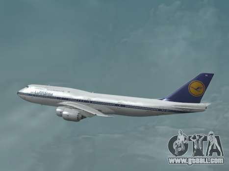 Lufthansa 747-8i Retro Livery for GTA San Andreas left view