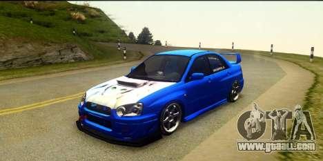 Subaru Impreza WRX STi 2004 (Virtual Diva) for GTA San Andreas