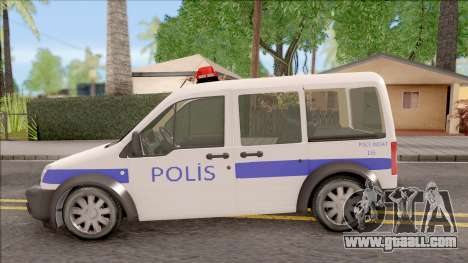 Ford Tourneo Connect K210S Turkish Police for GTA San Andreas left view