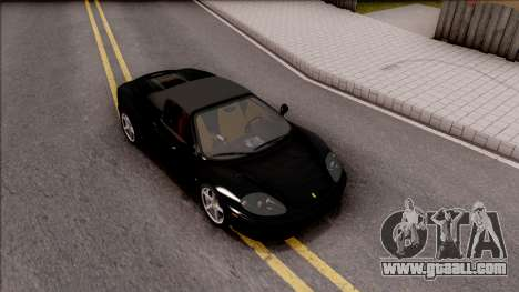 Ferrari 360 Spider US-Spec 2000 IVF for GTA San Andreas right view