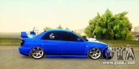 Subaru Impreza WRX STi 2004 (Virtual Diva) for GTA San Andreas right view