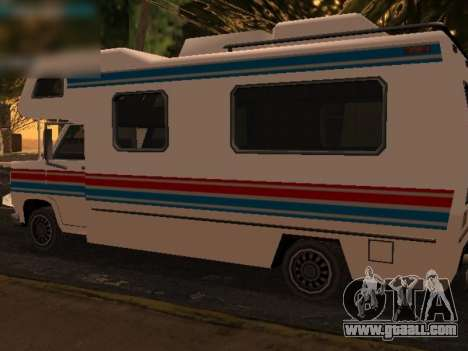 Journey with red and blue stripe for GTA San Andreas back left view