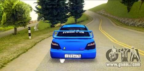 Subaru Impreza WRX STi 2004 (Virtual Diva) for GTA San Andreas back left view