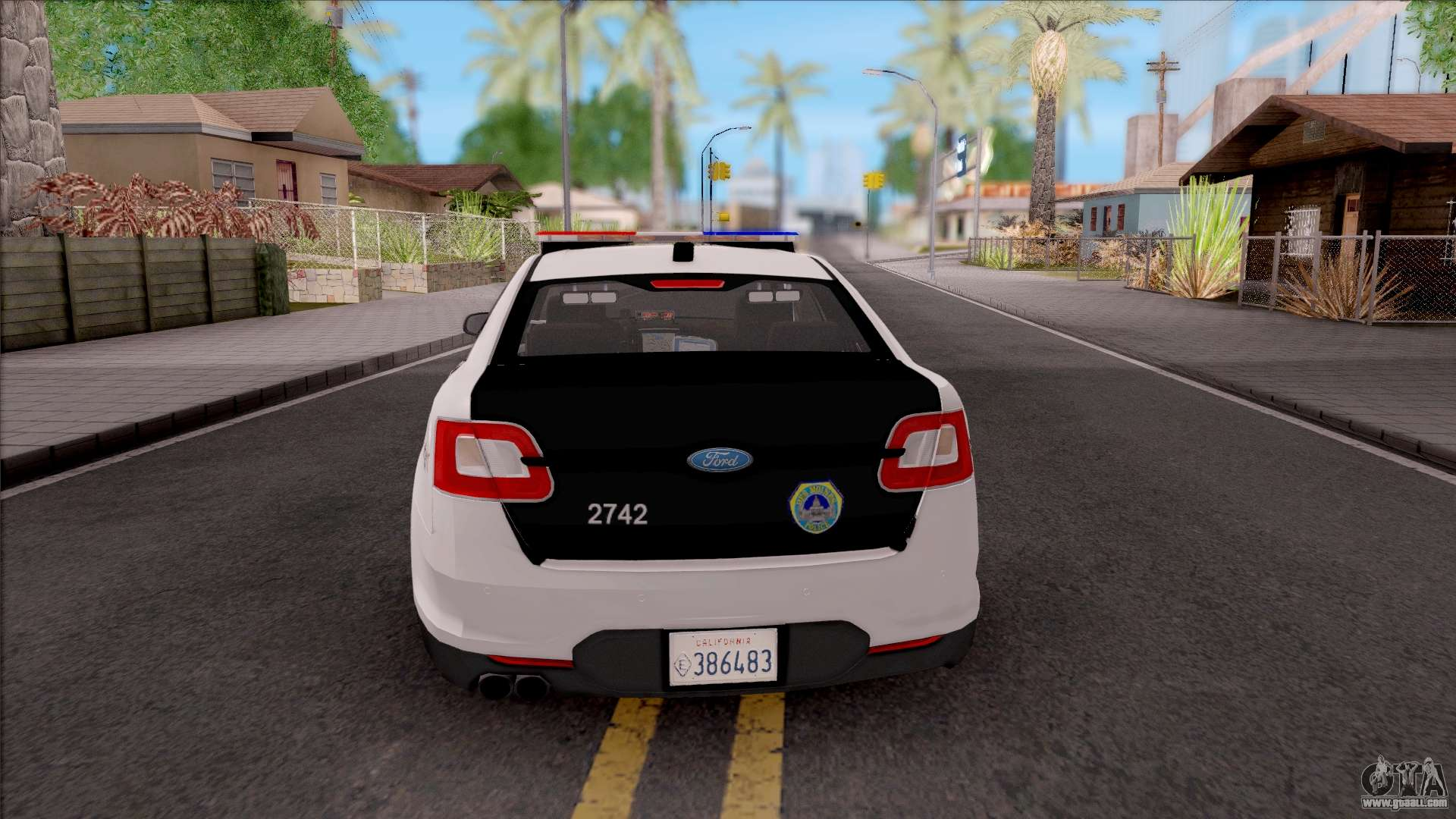 Ford taurus 2011 des moines pd for gta san andreas back left view