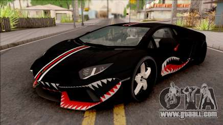 Lamborghini Huracan Shark New Edition Black for GTA San Andreas
