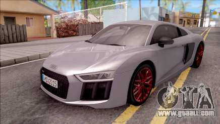 Audi R8 V10 Plus 2018 EU Plate for GTA San Andreas