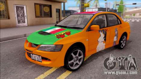 Mitsubishi Lancer Evo 8 High School DxD Itasha for GTA San Andreas