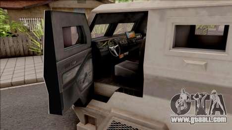 GTA EFLC HVY Brickade for GTA San Andreas inner view