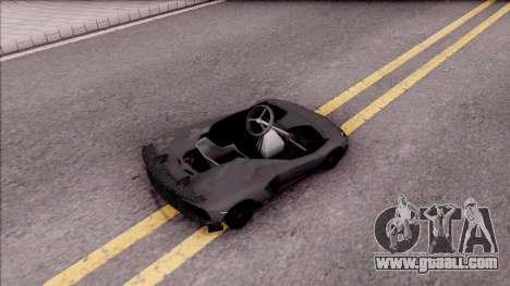 Lamborghini Aventador J-Kart for GTA San Andreas back left view