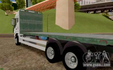 Iveco Stralis Flatbed Truck NO EXTRAS for GTA San Andreas back left view