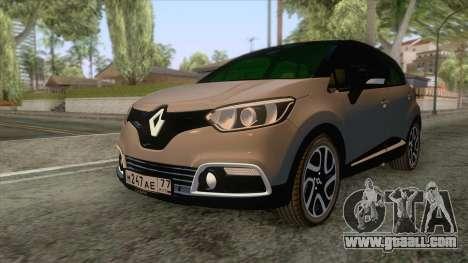 Renault Captur for GTA San Andreas back left view