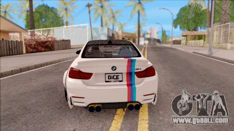 BMW M4 LB Walk for GTA San Andreas back left view