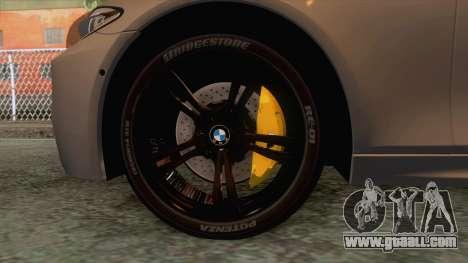 BMW M5 F10 Nighthawk for GTA San Andreas back view