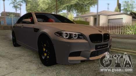 BMW M5 F10 Nighthawk for GTA San Andreas back left view