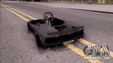 Lamborghini Aventador J-Kart for GTA San Andreas left view