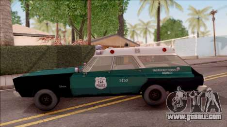 Plymouth Belvedere Station Wagon 1965 NYPD Final for GTA San Andreas left view