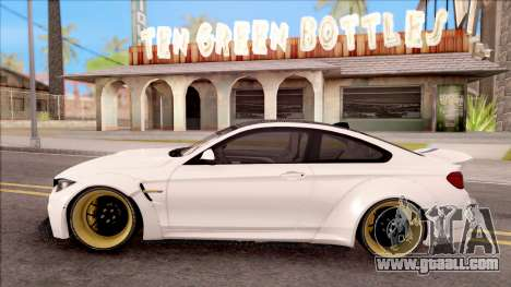 BMW M4 LB Walk for GTA San Andreas left view