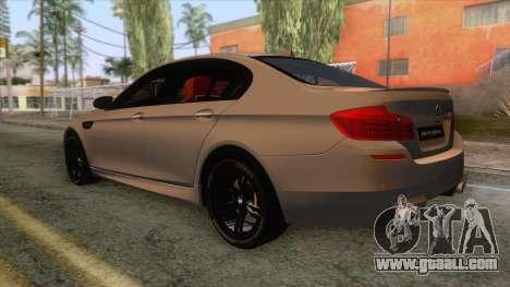 BMW M5 F10 Nighthawk for GTA San Andreas left view
