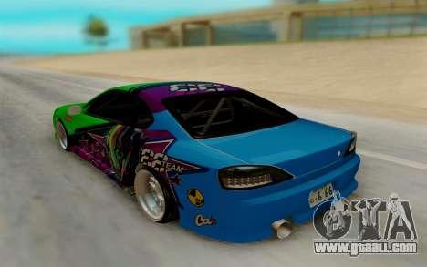 Nissan Silvia for GTA San Andreas back left view