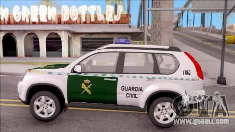Nissan X-Trail Guardia Civil Spanish for GTA San Andreas left view