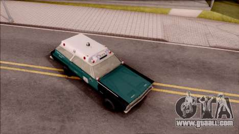 Plymouth Belvedere Station Wagon 1965 NYPD Final for GTA San Andreas right view