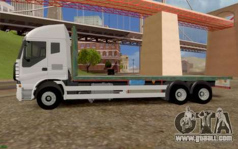 Iveco Stralis Flatbed Truck NO EXTRAS for GTA San Andreas left view