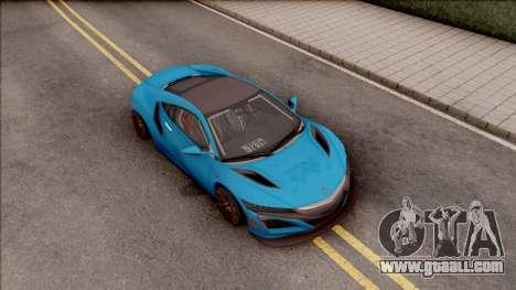 Acura NSX 2017 Stock Beta for GTA San Andreas right view