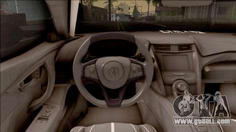 Acura NSX 2017 Stock Beta for GTA San Andreas inner view