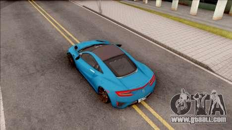 Acura NSX 2017 Stock Beta for GTA San Andreas back view
