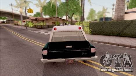Plymouth Belvedere Station Wagon 1965 NYPD Final for GTA San Andreas back left view