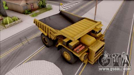 BELAZ-75214 IVF for GTA San Andreas right view