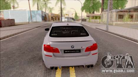BMW M5 F10 Competition Edition for GTA San Andreas back left view