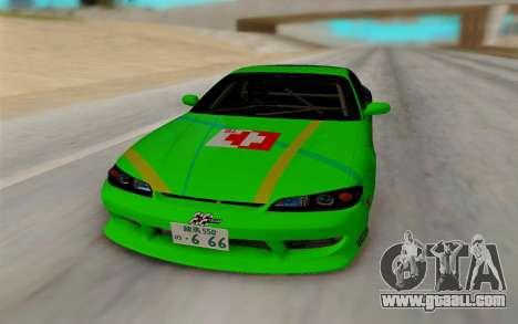 Nissan Silvia for GTA San Andreas back view
