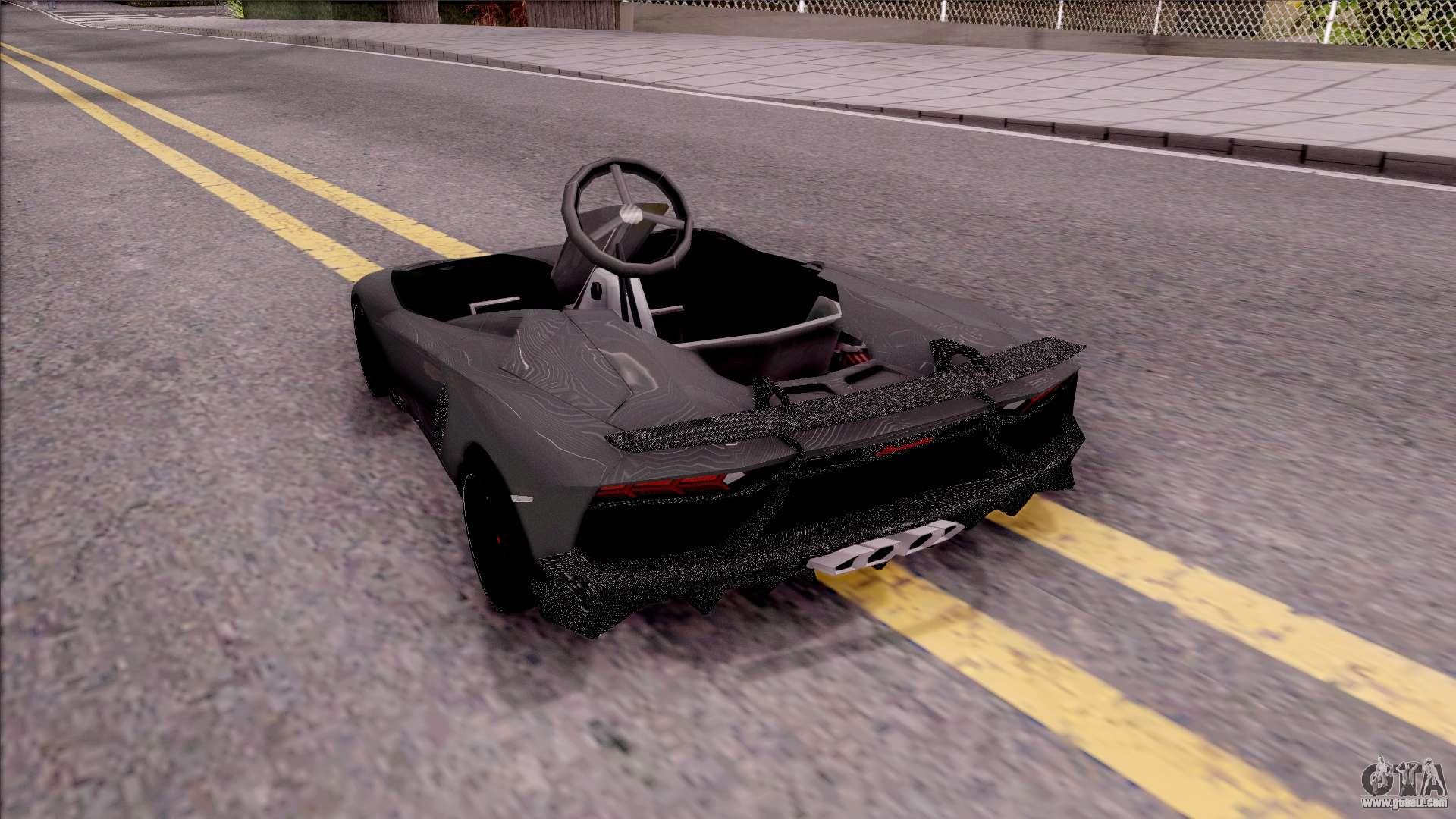 Lamborghini Aventador J Kart For Gta San Andreas