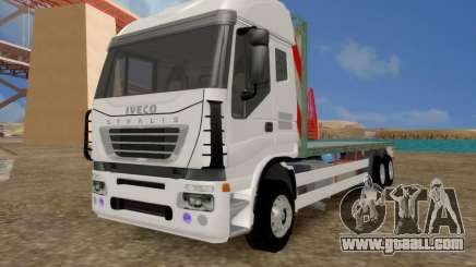 Iveco Stralis Flatbed Truck NO EXTRAS for GTA San Andreas