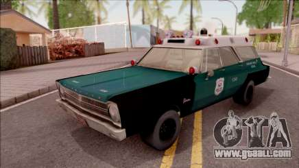 Plymouth Belvedere Station Wagon 1965 NYPD Final for GTA San Andreas