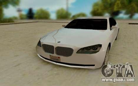 BMW 7 Series 750Li xDrive for GTA San Andreas back view