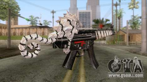MP5 Tiger Skin for GTA San Andreas second screenshot