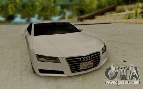 Audi A7 for GTA San Andreas